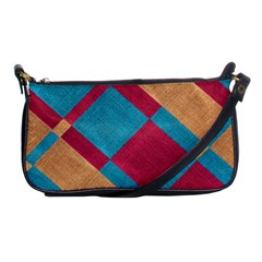 Fabric Textile Cloth Material Shoulder Clutch Bags by Celenk