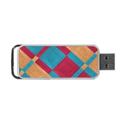 Fabric Textile Cloth Material Portable Usb Flash (two Sides)