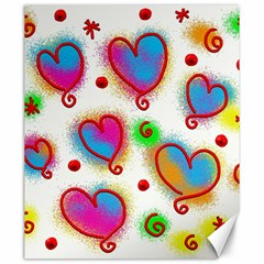 Love Hearts Shapes Doodle Art Canvas 20  X 24