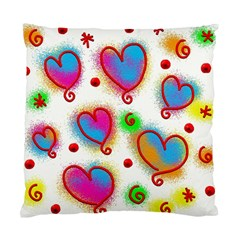 Love Hearts Shapes Doodle Art Standard Cushion Case (one Side)