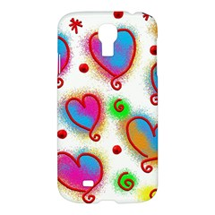 Love Hearts Shapes Doodle Art Samsung Galaxy S4 I9500/i9505 Hardshell Case by Celenk