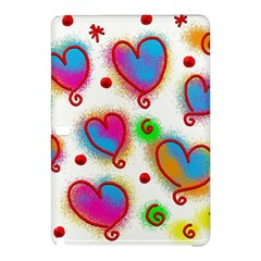 Love Hearts Shapes Doodle Art Samsung Galaxy Tab Pro 10 1 Hardshell Case by Celenk