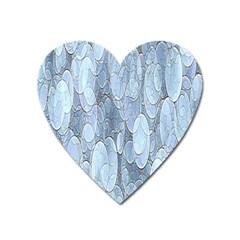 Bubbles Texture Blue Shades Heart Magnet by Celenk