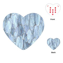 Bubbles Texture Blue Shades Playing Cards (heart)  by Celenk