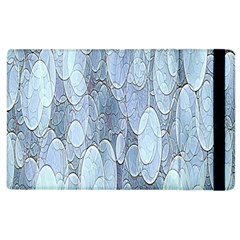 Bubbles Texture Blue Shades Apple Ipad 3/4 Flip Case by Celenk