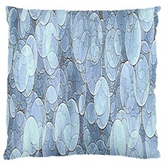 Bubbles Texture Blue Shades Large Flano Cushion Case (one Side)
