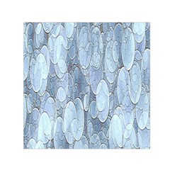 Bubbles Texture Blue Shades Small Satin Scarf (square) by Celenk