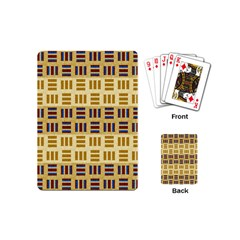 Textile Texture Fabric Material Playing Cards (mini)  by Celenk