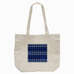 Textiles Texture Structure Grid Tote Bag (cream) by Celenk