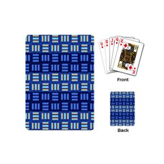 Textiles Texture Structure Grid Playing Cards (mini)  by Celenk