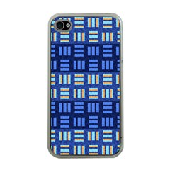 Textiles Texture Structure Grid Apple Iphone 4 Case (clear) by Celenk