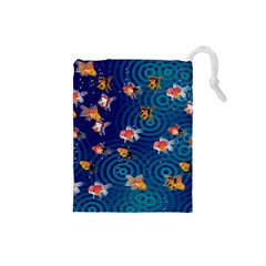 Fish Swim In The Ocean Drawstring Pouches (small)  by Cveti