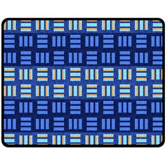 Textiles Texture Structure Grid Double Sided Fleece Blanket (medium)  by Celenk