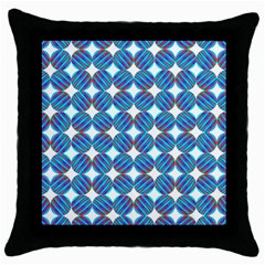 Geometric Dots Pattern Rainbow Throw Pillow Case (black) by Celenk
