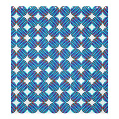 Geometric Dots Pattern Rainbow Shower Curtain 66  X 72  (large)  by Celenk