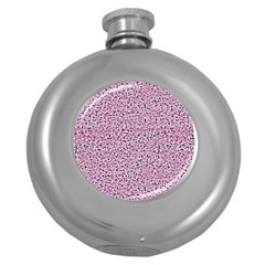 Texture Surface Backdrop Background Round Hip Flask (5 Oz) by Celenk