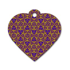 Sacred Geometry Hand Drawing 2 Dog Tag Heart (one Side) by Cveti