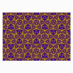 Sacred Geometry Hand Drawing 2 Large Glasses Cloth by Cveti