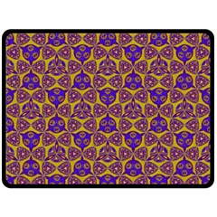 Sacred Geometry Hand Drawing 2 Fleece Blanket (large)  by Cveti