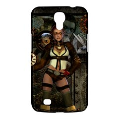Steampunk, Steampunk Women With Clocks And Gears Samsung Galaxy Mega 6 3  I9200 Hardshell Case by FantasyWorld7