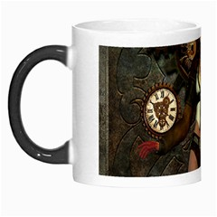 Steampunk, Steampunk Women With Clocks And Gears Morph Mugs by FantasyWorld7