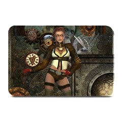 Steampunk, Steampunk Women With Clocks And Gears Plate Mats by FantasyWorld7
