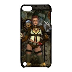 Steampunk, Steampunk Women With Clocks And Gears Apple Ipod Touch 5 Hardshell Case With Stand by FantasyWorld7