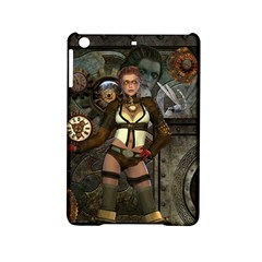 Steampunk, Steampunk Women With Clocks And Gears Ipad Mini 2 Hardshell Cases by FantasyWorld7