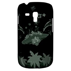 Surfboard With Dolphin, Flowers, Palm And Turtle Galaxy S3 Mini by FantasyWorld7