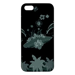 Surfboard With Dolphin, Flowers, Palm And Turtle Iphone 5s/ Se Premium Hardshell Case by FantasyWorld7