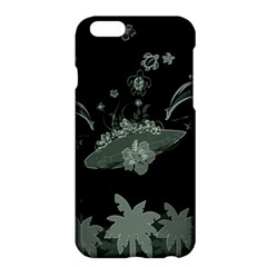 Surfboard With Dolphin, Flowers, Palm And Turtle Apple Iphone 6 Plus/6s Plus Hardshell Case by FantasyWorld7