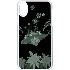Surfboard With Dolphin, Flowers, Palm And Turtle Apple Iphone X Seamless Case (white) by FantasyWorld7