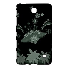 Surfboard With Dolphin, Flowers, Palm And Turtle Samsung Galaxy Tab 4 (7 ) Hardshell Case  by FantasyWorld7