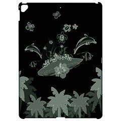 Surfboard With Dolphin, Flowers, Palm And Turtle Apple Ipad Pro 12 9   Hardshell Case by FantasyWorld7