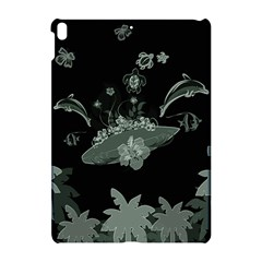 Surfboard With Dolphin, Flowers, Palm And Turtle Apple Ipad Pro 10 5   Hardshell Case by FantasyWorld7