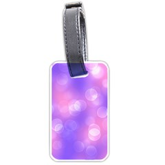 Soft Lights Bokeh 1 Luggage Tags (two Sides) by MoreColorsinLife