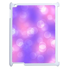 Soft Lights Bokeh 1 Apple Ipad 2 Case (white) by MoreColorsinLife