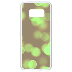Soft Lights Bokeh 4c Samsung Galaxy S8 White Seamless Case by MoreColorsinLife