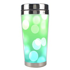 Soft Lights Bokeh 2 Stainless Steel Travel Tumblers by MoreColorsinLife