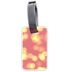 Soft Lights Bokeh 4b Luggage Tags (one Side)  by MoreColorsinLife