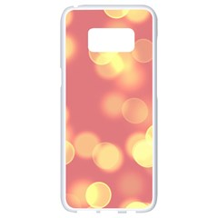 Soft Lights Bokeh 4b Samsung Galaxy S8 White Seamless Case by MoreColorsinLife