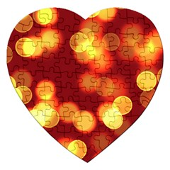 Soft Lights Bokeh 4 Jigsaw Puzzle (heart) by MoreColorsinLife