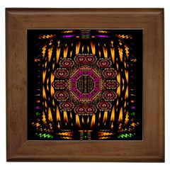 A Flaming Star Is Born On The  Metal Sky Framed Tiles by pepitasart