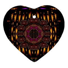 A Flaming Star Is Born On The  Metal Sky Ornament (heart) by pepitasart