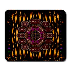 A Flaming Star Is Born On The  Metal Sky Large Mousepads by pepitasart