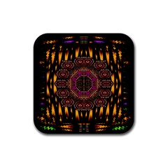 A Flaming Star Is Born On The  Metal Sky Rubber Coaster (square)  by pepitasart