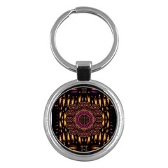 A Flaming Star Is Born On The  Metal Sky Key Chains (round)  by pepitasart