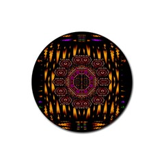 A Flaming Star Is Born On The  Metal Sky Rubber Round Coaster (4 Pack)  by pepitasart