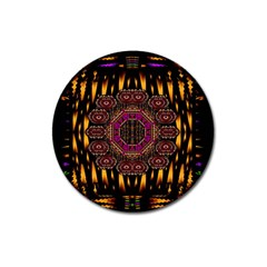 A Flaming Star Is Born On The  Metal Sky Magnet 3  (round) by pepitasart