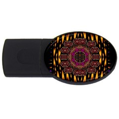 A Flaming Star Is Born On The  Metal Sky Usb Flash Drive Oval (2 Gb) by pepitasart